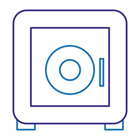 안전 상자 보안 아이콘 벡터 일러스트 디자인