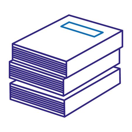 tekstboeken stapel school pictogram vector illustratie ontwerp Stock Illustratie