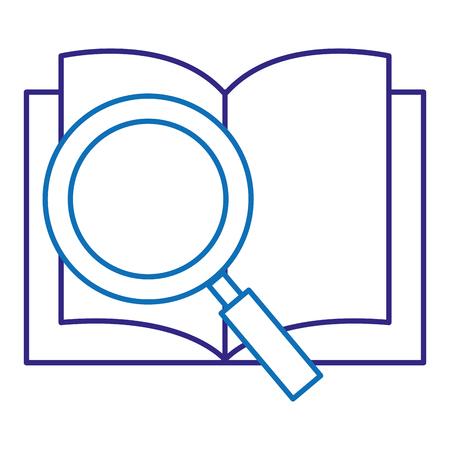 Lehrbuch Schule mit Lupe Vektor Illustration design Standard-Bild - 88232735