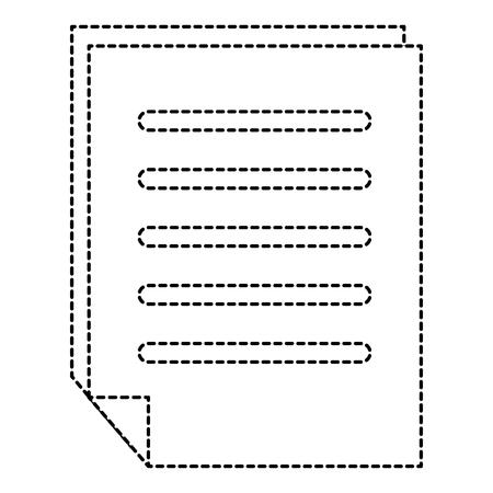종이 문서 격리 아이콘 벡터 일러스트 디자인 일러스트