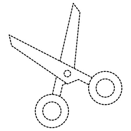 scissors cut isolated icon vector illustration design