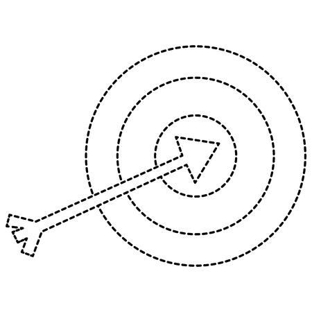 richten met geïsoleerde pijl vectorillustratieontwerp