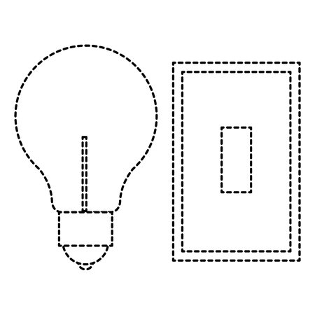 bulb light with switch vector illustration design Ilustração