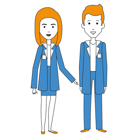 medical staff avatars characters vector illustration design