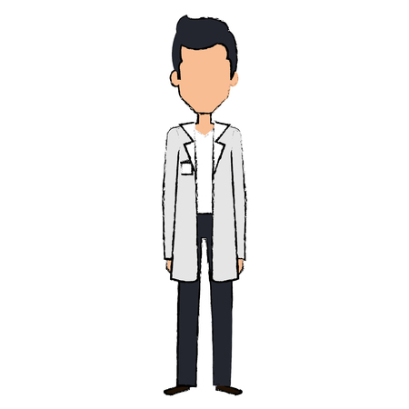 professional doctor avatar character vector illustration design