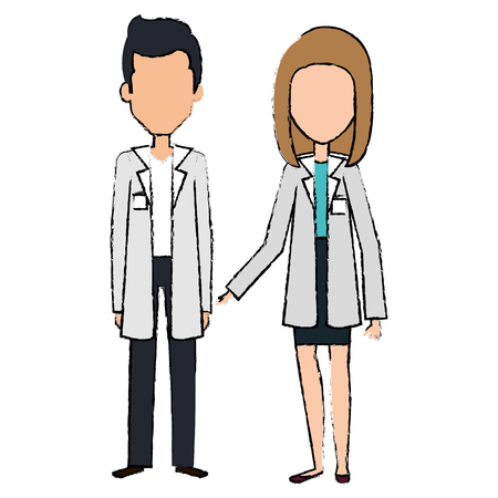 medical staff avatars characters vector illustration design