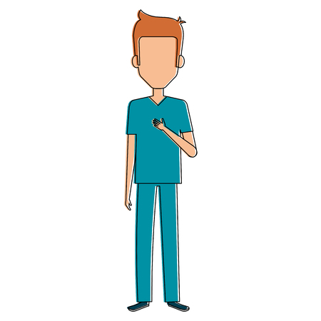 man surgeon avatar character vector illustration design
