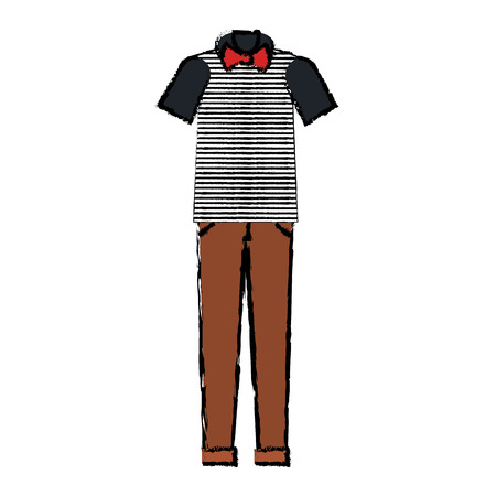 hipster clothes isolated icon vector illustration design