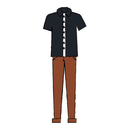 male casual clothes icon vector illustration design Illustration