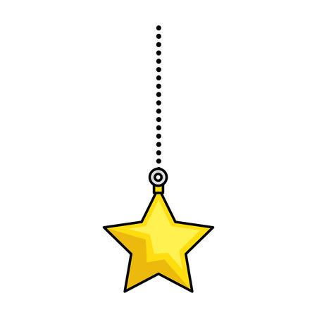 shinning: decorative star isolated icon vector illustration design