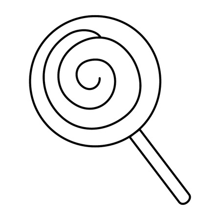 snoepje zoet geïsoleerd pictogram vectorillustratieontwerp Stock Illustratie