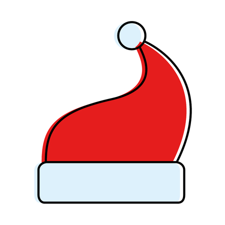merry christmas hat icon vector illustration design