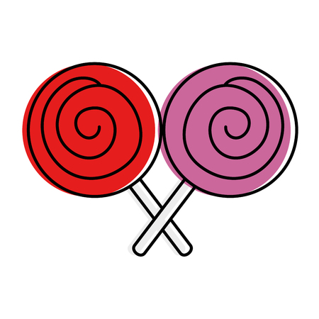 candies sweet isolated icon vector illustration design