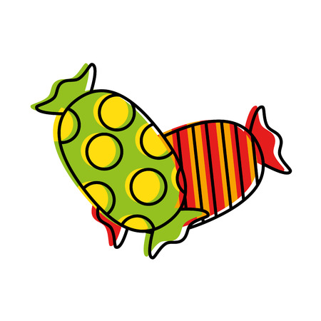 delicious candies sweet icon vector illustration design
