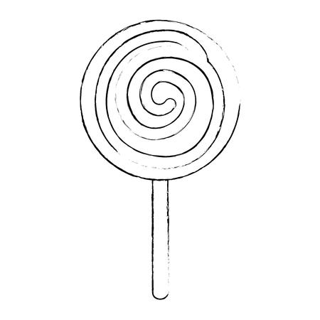 分離した甘いお菓子アイコン ベクトル イラスト デザイン  イラスト・ベクター素材
