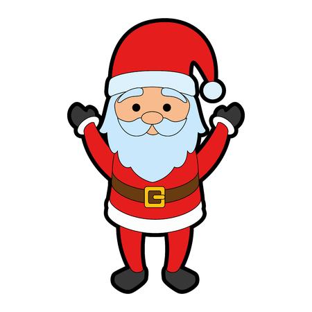 cute santa claus character vector illustration design Illustration