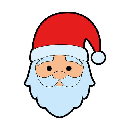 cute santa claus head character vector illustration design  イラスト・ベクター素材