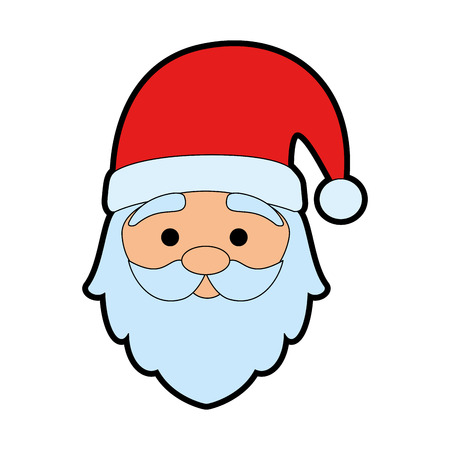 cute santa claus head character vector illustration design Stock Illustratie