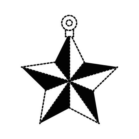decorative star isolated icon vector illustration design