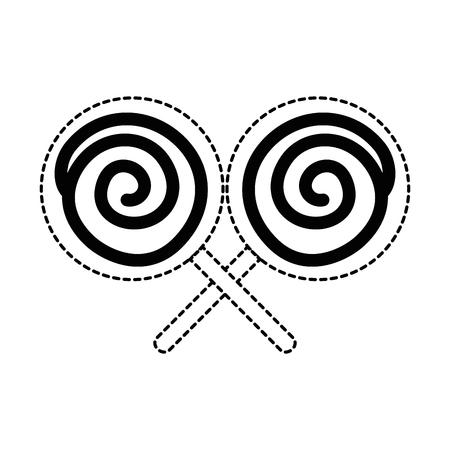 キャンディースウィート孤立アイコンベクトルイラストデザイン