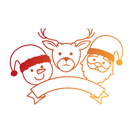 group of Christmas characters vector illustration design Illustration