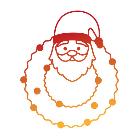 crown with cute santa claus character vector illustration design