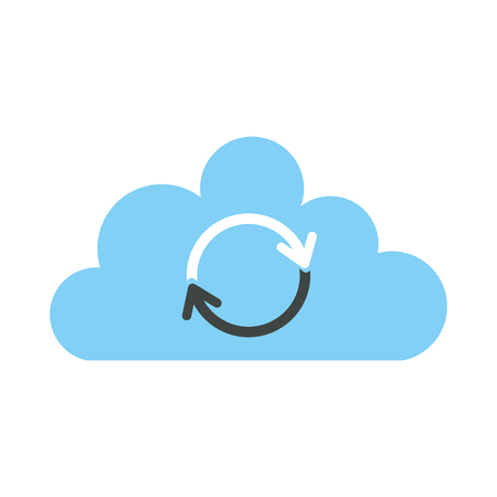 cloud sync refresh backup computing data icon vector illustration