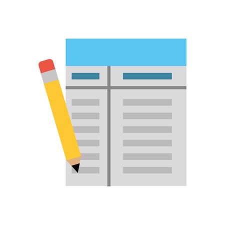 Geschäftsstelle Papierdokument Bleistift Elemente Vektor-Illustration Standard-Bild - 88371150