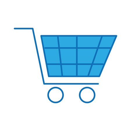 shopping cart virtual ecommerce business symbol vector illustration 向量圖像