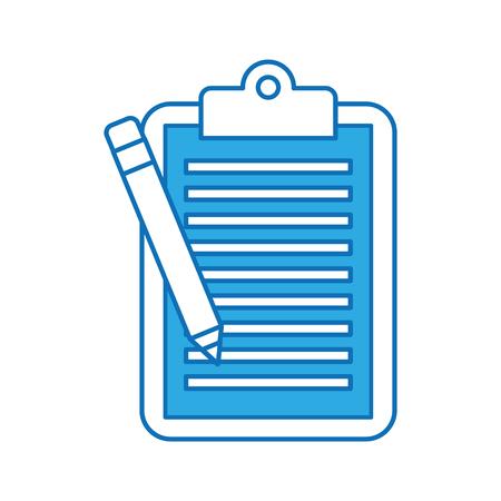 Business-Zwischenablage Bleistift Papierbericht Dokument Vektor-Illustration Standard-Bild - 88352967
