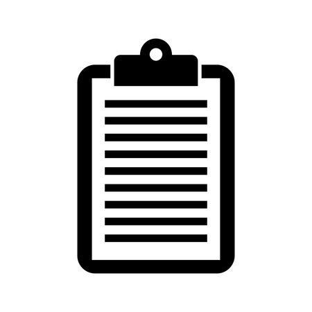 비즈니스 클립 보드 종이 보고서 문서 벡터 일러스트 레이션