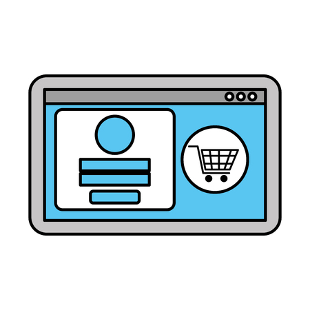 website page online shopping access store vector illustration
