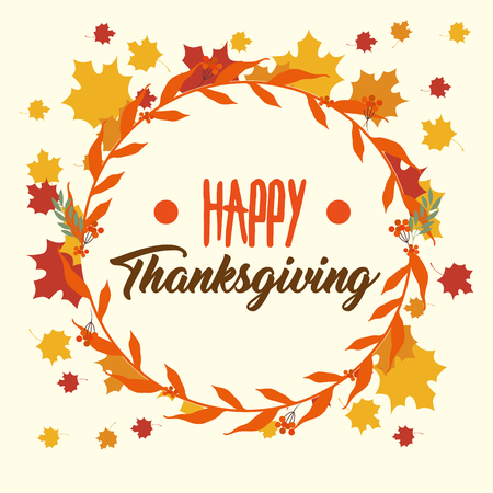 happy thanksgiving day greeting card vector illustration graphic design