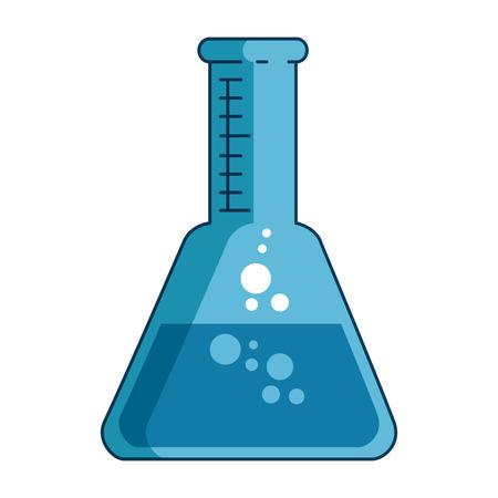 tube test laboratory isolated icon vector illustration design Çizim