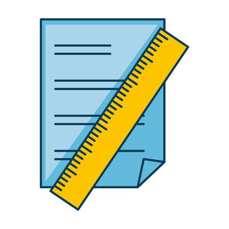 ルール ベクトル イラスト デザインと紙の文書  イラスト・ベクター素材