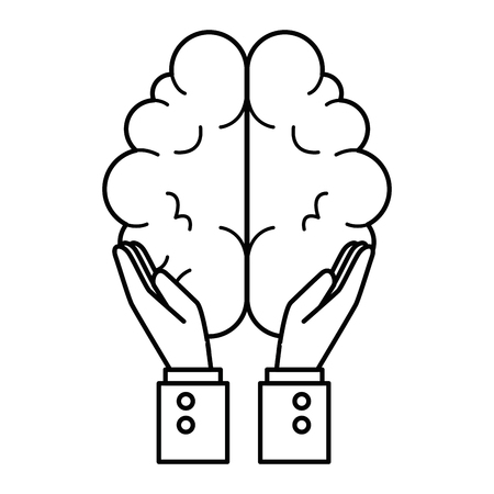 hands with brain organ isolated icon vector illustration design 版權商用圖片 - 88396110