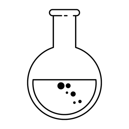 tube test laboratory isolated icon vector illustration design Illustration