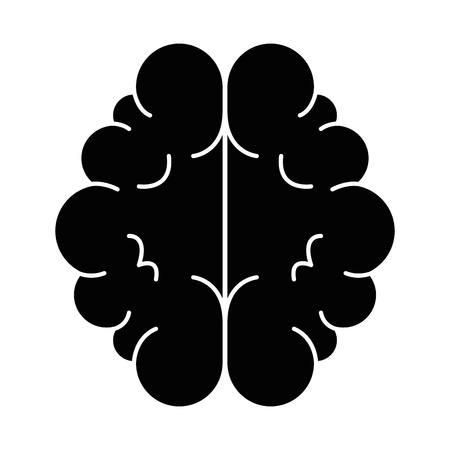 brain organ isolated icon vector illustration design