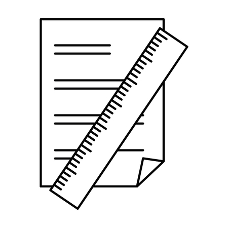 paper document with rule vector illustration design