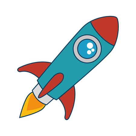 ontwerp van de het pictogram vectorillustratie van de raketlanceerinrichting het geïsoleerde