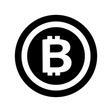 bitcoin currency money virtual technology business vector illustration Reklamní fotografie - 88398035