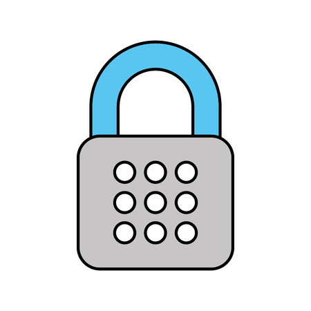 security digital data password access protection vector illustration