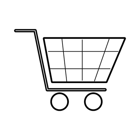 shopping cart virtual ecommerce business symbol vector illustration Ilustração