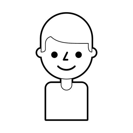 portrait man young avatar character male vector illustration Illustration