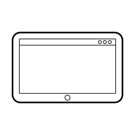 タブレット技術デバイス デジタル電子ワイヤレス ベクトル図