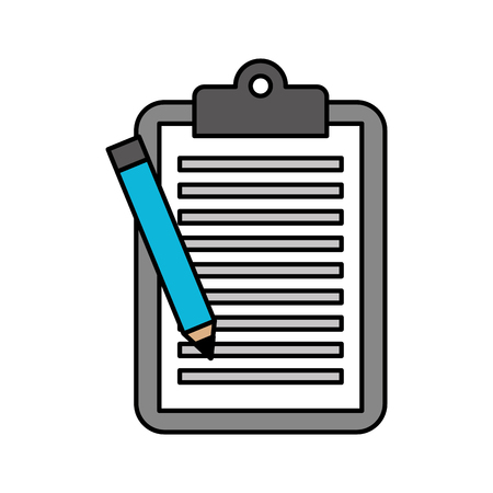 zakelijke klembord potlood papier rapportdocument vectorillustratie