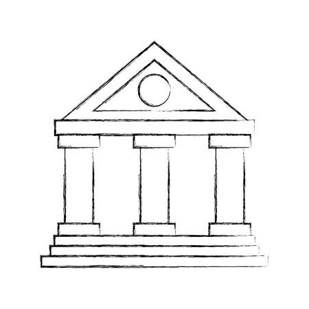 building bank financial money saving symbol vector illustration