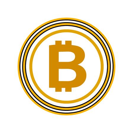bitcoin currency money virtual technology business vector illustration Reklamní fotografie - 88399424