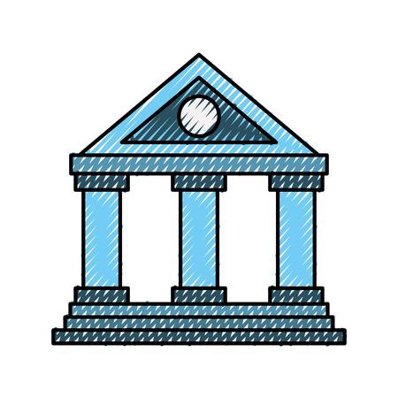 건물 은행 금융 돈을 절약 기호 벡터 일러스트 레이션