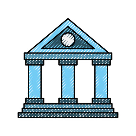 building bank financial money saving symbol vector illustration